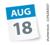 august 18   calendar icon  ... | Shutterstock .eps vector #1196283037