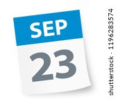 september 23   calendar icon  ... | Shutterstock .eps vector #1196283574