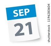 september 21   calendar icon  ... | Shutterstock .eps vector #1196283604