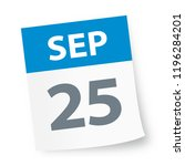 september 25   calendar icon  ... | Shutterstock .eps vector #1196284201