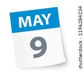 may 9   calendar icon   vector... | Shutterstock .eps vector #1196284234