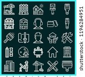 set of 25 construction outline... | Shutterstock . vector #1196284951