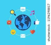 social media  global...   Shutterstock .eps vector #1196298817