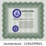 green retro vintage invitation. ... | Shutterstock .eps vector #1196299831