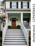 front porch with stairs of all... | Shutterstock . vector #1196306611