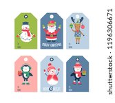 christmas holiday cute gift... | Shutterstock .eps vector #1196306671