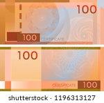 voucher template banknote 100... | Shutterstock .eps vector #1196313127