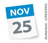 november 25   calendar icon  ... | Shutterstock .eps vector #1196319451