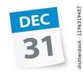 december 31   calendar icon  ... | Shutterstock .eps vector #1196319457