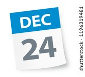 december 24   calendar icon  ... | Shutterstock .eps vector #1196319481