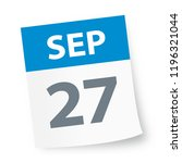 september 27   calendar icon  ... | Shutterstock .eps vector #1196321044