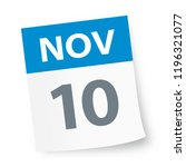 november 10   calendar icon  ... | Shutterstock .eps vector #1196321077