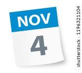 november 4   calendar icon  ... | Shutterstock .eps vector #1196321104