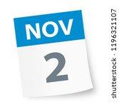 november 2   calendar icon  ... | Shutterstock .eps vector #1196321107