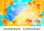 autumn leaves with white frame... | Shutterstock .eps vector #1196323267