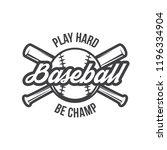vector illustration of baseball ... | Shutterstock .eps vector #1196334904