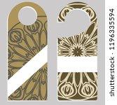 door hanger flyer with floral...   Shutterstock .eps vector #1196335594