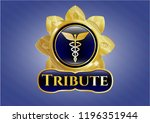 gold emblem or badge with... | Shutterstock .eps vector #1196351944