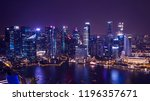 cityscape night light view of... | Shutterstock . vector #1196357671