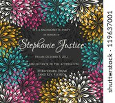 wedding card or invitation with ... | Shutterstock .eps vector #119637001