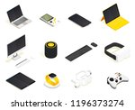 modern devices isometric set.... | Shutterstock .eps vector #1196373274