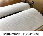 write notebooks and work. books ... | Shutterstock . vector #1196393851