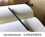 write notebooks and work. books ... | Shutterstock . vector #1196393854