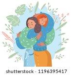 vector cartoon illustration of... | Shutterstock .eps vector #1196395417