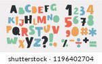 vector cartoon of bright... | Shutterstock .eps vector #1196402704