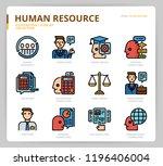 human resource icon set   Shutterstock .eps vector #1196406004