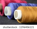 reels thread in a row shallow... | Shutterstock . vector #1196406121