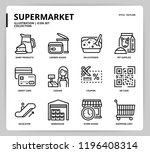 supermarket icon set | Shutterstock .eps vector #1196408314