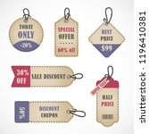 vector stickers  price tag ... | Shutterstock .eps vector #1196410381