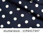 blue and white polka dot... | Shutterstock . vector #1196417347