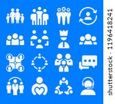 set of 16 group filled icons... | Shutterstock . vector #1196418241
