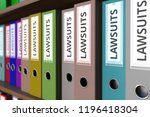 many binders with lawsuits... | Shutterstock . vector #1196418304