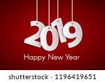 happy new year 2019 concept...   Shutterstock .eps vector #1196419651