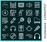 set of 25 music outline icons... | Shutterstock . vector #1196429527