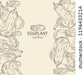 background with eggplant  full... | Shutterstock .eps vector #1196433214