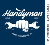 handyman label  badge  emblem ... | Shutterstock .eps vector #1196442667