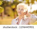 outdoors portrait of beautiful...   Shutterstock . vector #1196445901