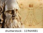 Leonardo da vinci, one of the greatest mind in the humanity - stock photo