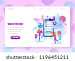 company or online service... | Shutterstock .eps vector #1196451211