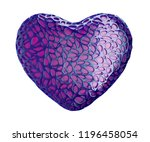 heart made of purple plastic... | Shutterstock . vector #1196458054
