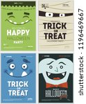 halloween party poster... | Shutterstock .eps vector #1196469667