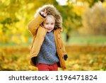 little boy during stroll in the ...   Shutterstock . vector #1196471824