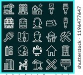 set of 25 construction outline... | Shutterstock .eps vector #1196477647
