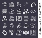 set of 25 hand outline icons... | Shutterstock .eps vector #1196478367