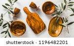 banner of wooden utensils from...   Shutterstock . vector #1196482201