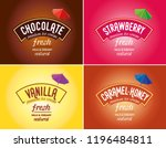 ice cream logo   brand vector.... | Shutterstock .eps vector #1196484811